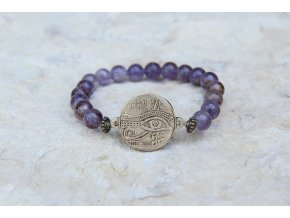 Náramek s amuletem Horovo oko - Super seven