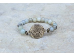 Náramek s amuletem Horovo oko - Amazonit