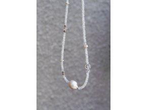 Náhrdelník - Barokní perla a měsíc