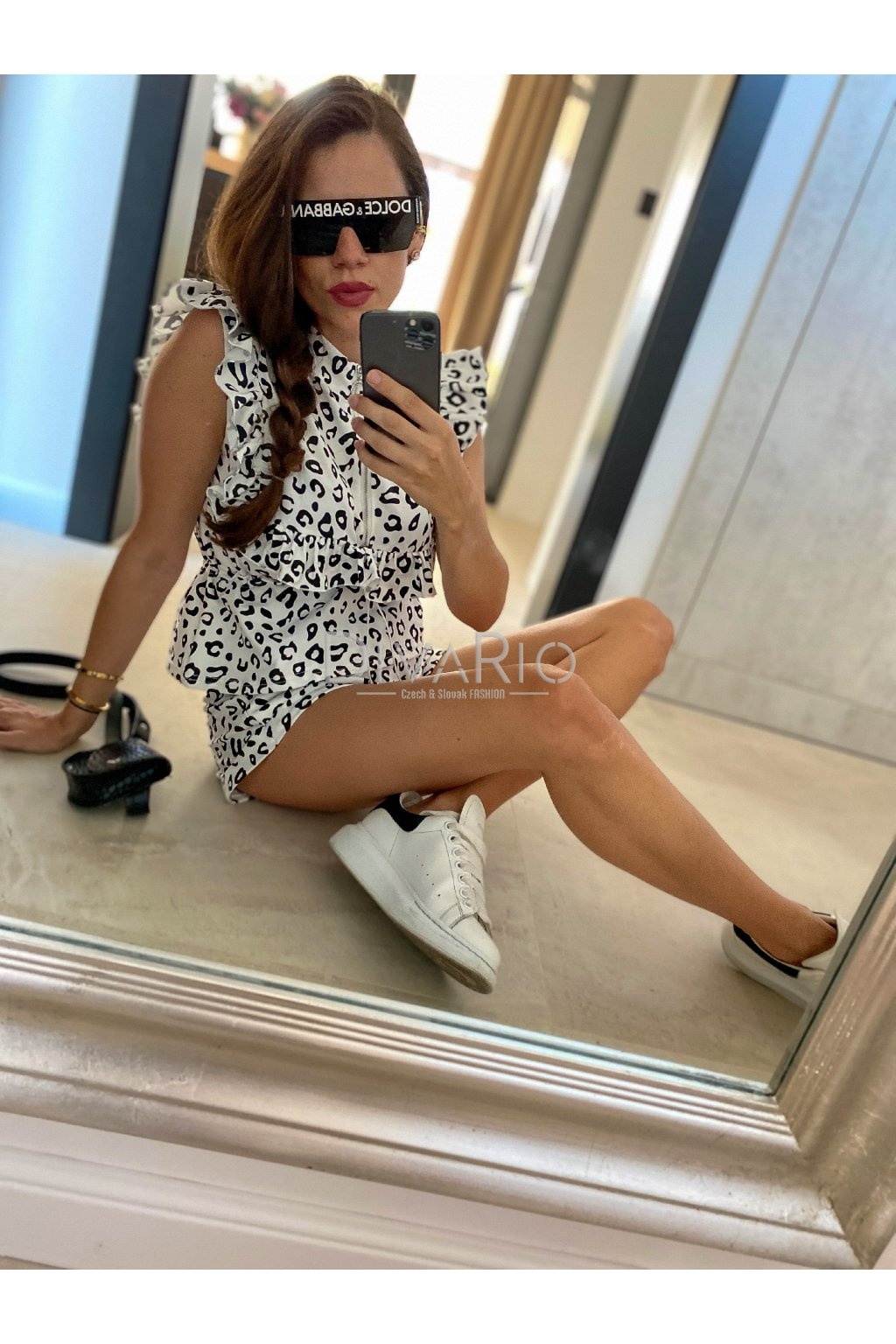 Leopard White & Black 3339