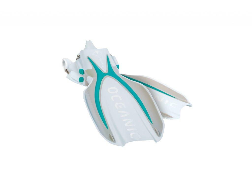 Ploutve Oceanic Manta Ray Sea Blue/White - bílá/modrá (Velikost S/M)