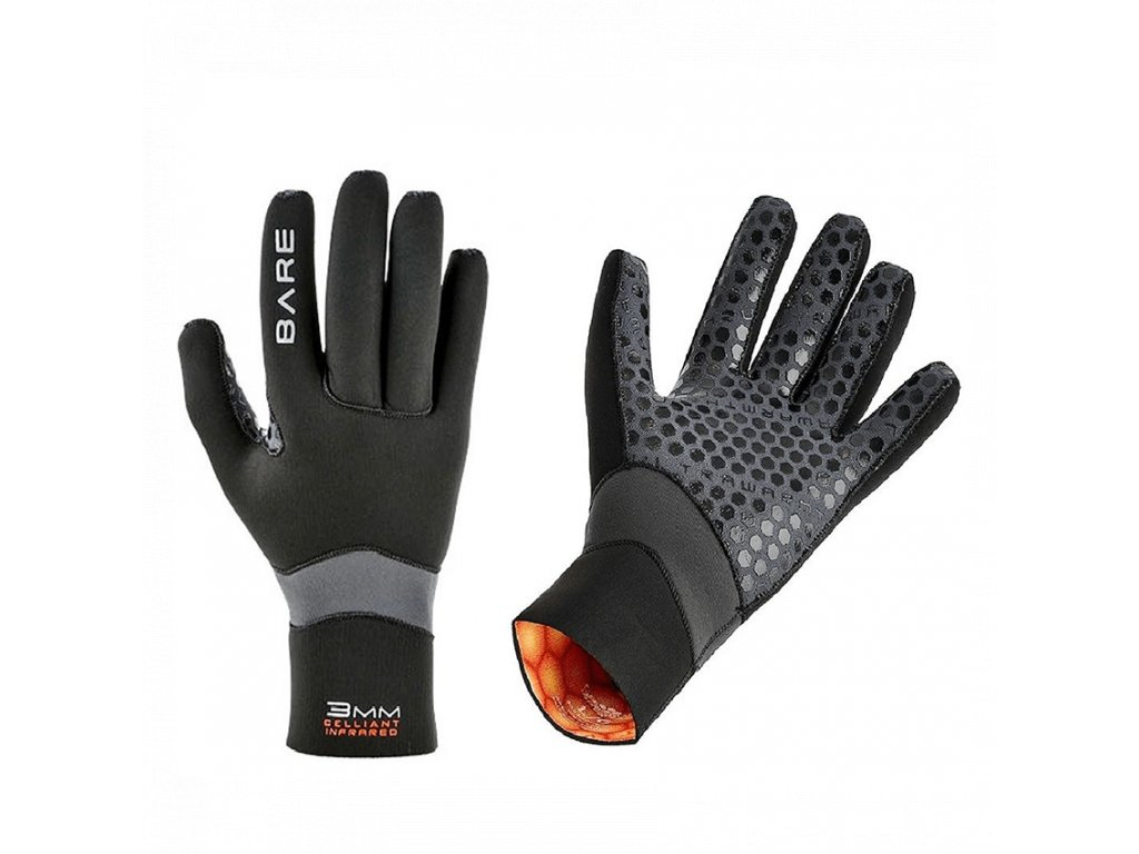 Unisex rukavice BARE 3 mm Ultrawarmth Glove - černá