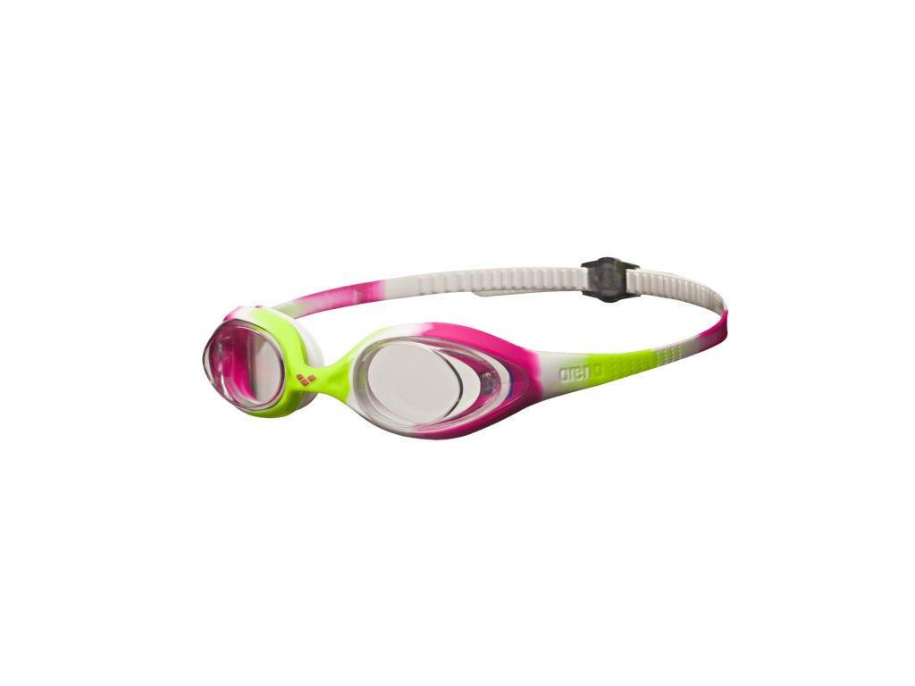 Dívčí plavecké brýle ARENA Spider Junior - bílá/růžová