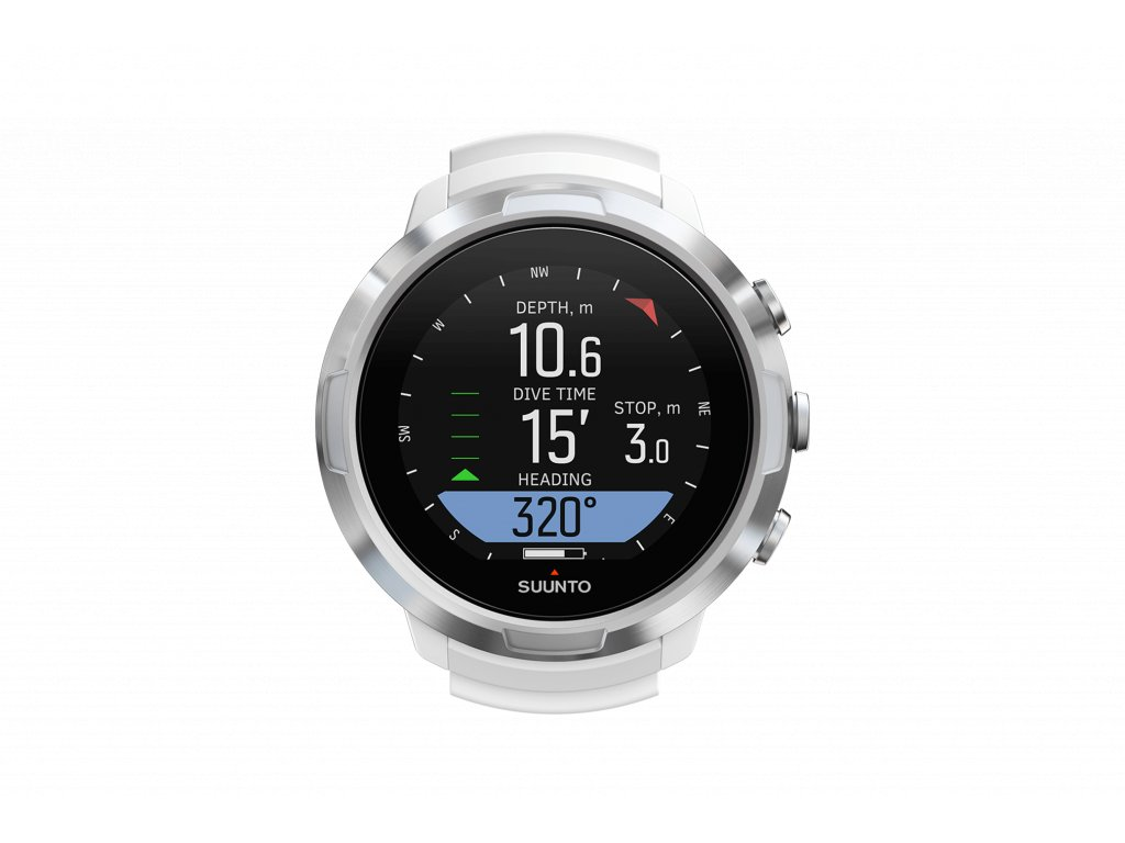 SS050181000 SUUNTO D5 WHITE Front View compass
