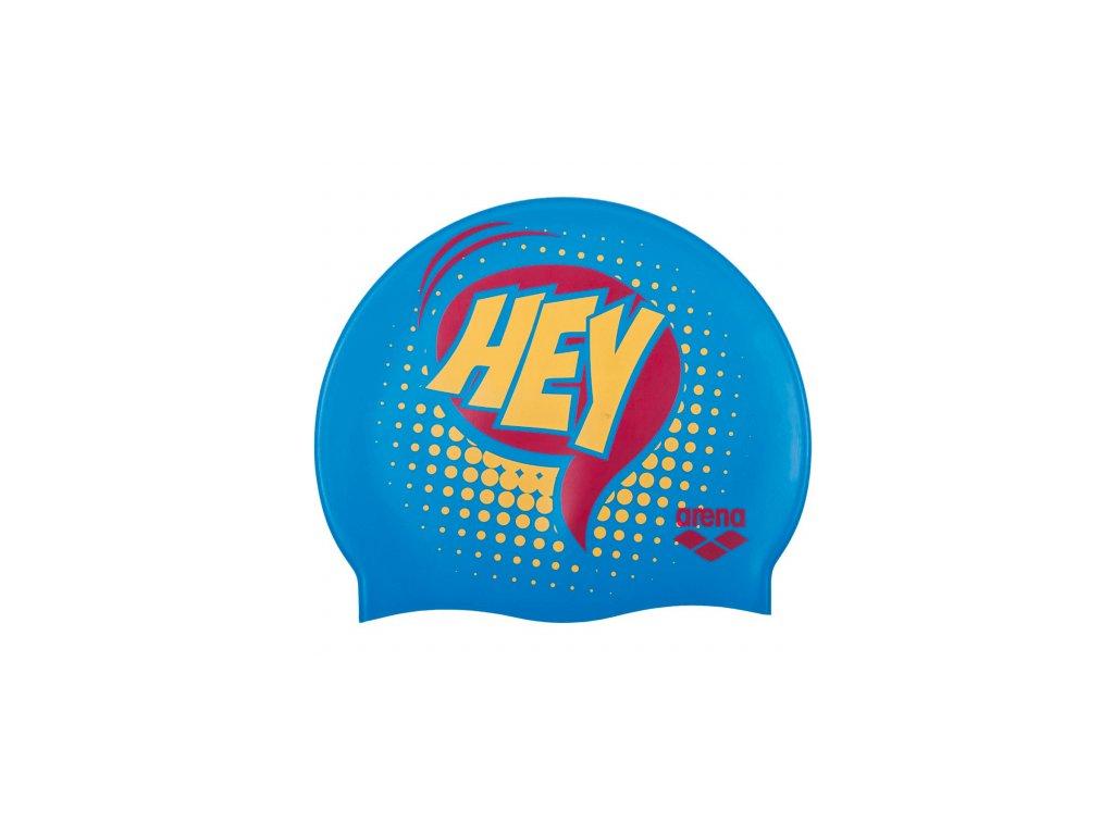 Junior plavecká čepice ARENA Print Hey - modrá