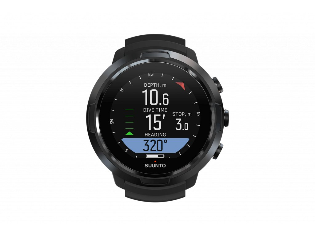 SS050192000 SUUNTO D5 ALL BLACK Front View compass