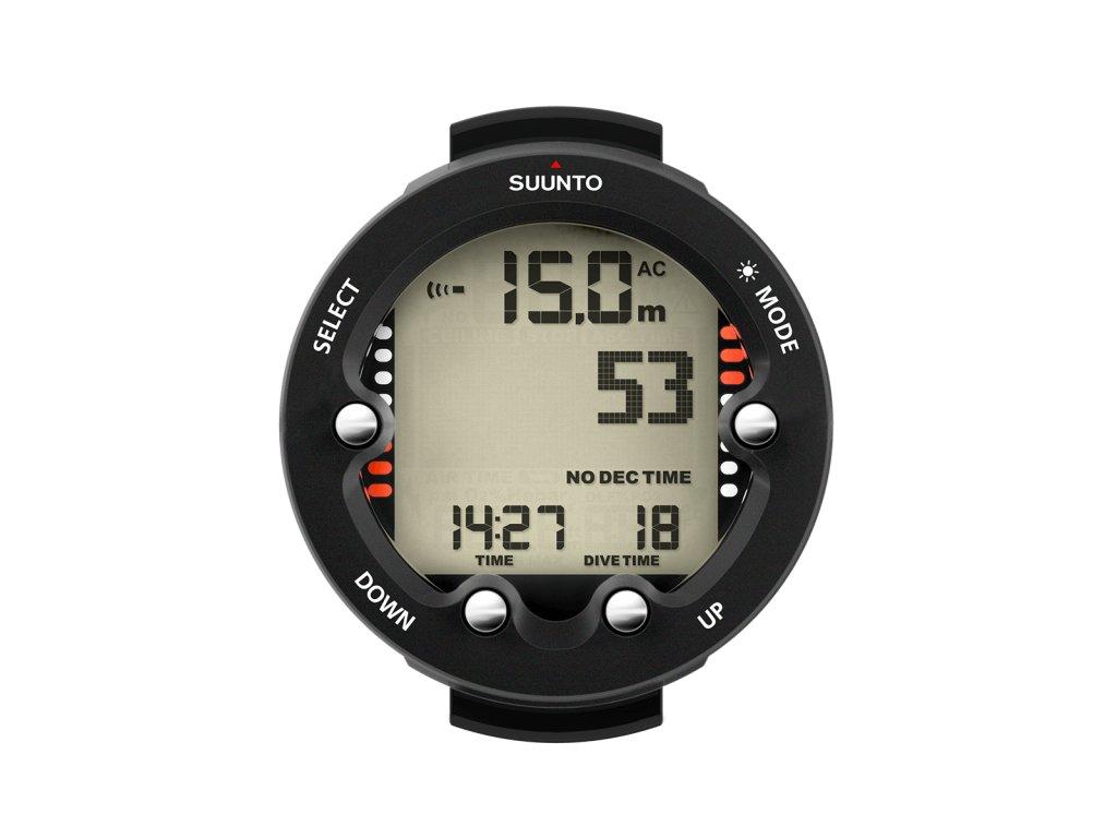 SS021645000 Suunto Zoop Novo Black Front Divetime Clock Metric