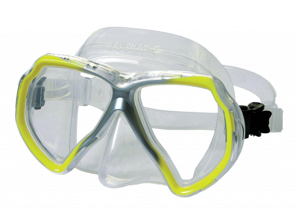 2460 maska beuchat x contact 2 transparent zluta
