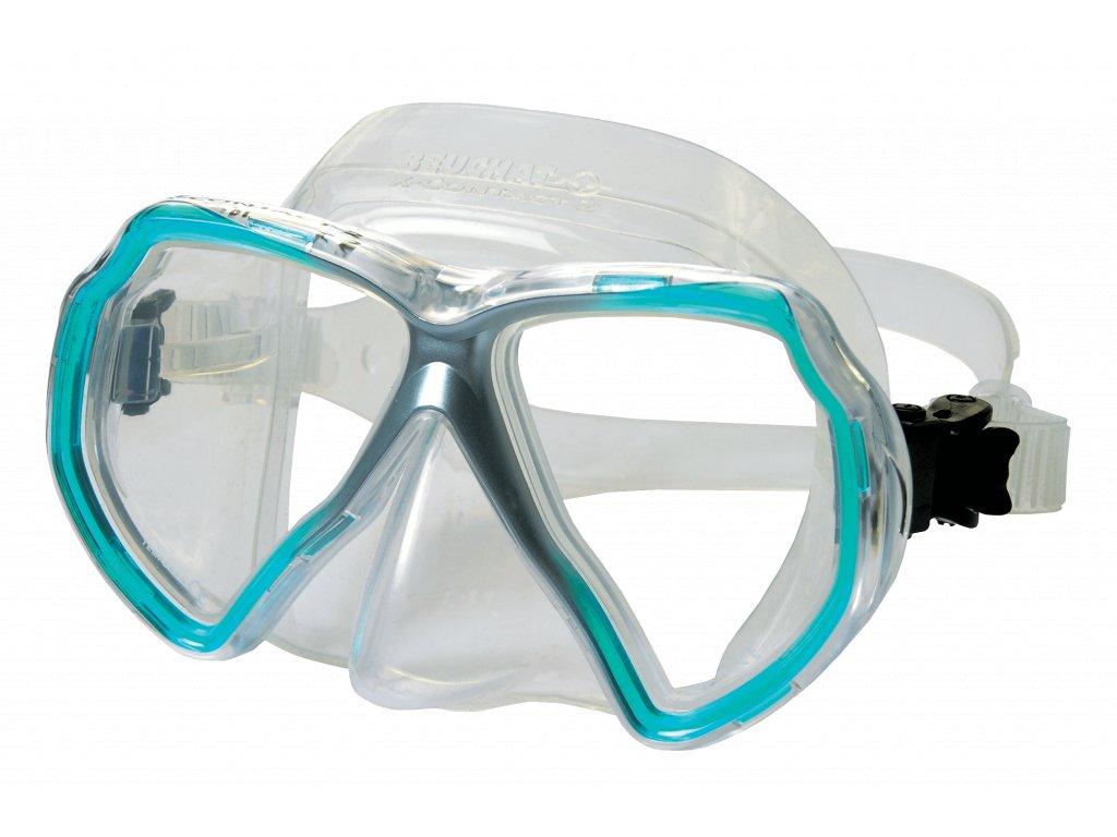 2463 maska beuchat x contact 2 transparent aqua