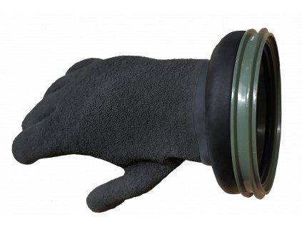 Rukavice CHECKUP RING SET GLOVES PRO 90 MM - khaki (Velikost 2XL)