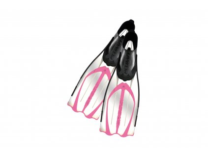 Ploutve Cressi PLUMA - transparent/růžová (Velikost 39-40)