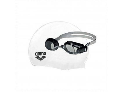 Pool Set ARENA plavecká čepice a plavecké brýle - bílá