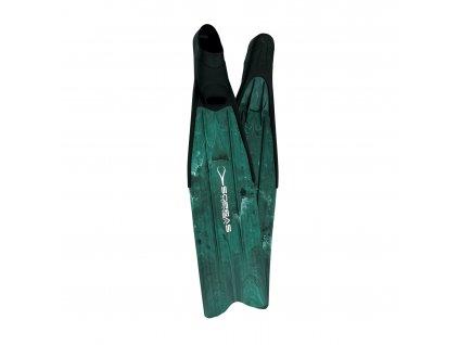 Freedivingové ploutve Sopras X-Race - zelená (Velikost 47-48)