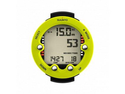 SS021643000 Suunto Zoop Novo Lime Front Divetime Clock Metric