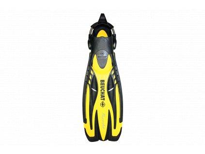 Ploutve Beuchat PowerJet Adjustable Spring Strap - žlutá (Velikost XL)