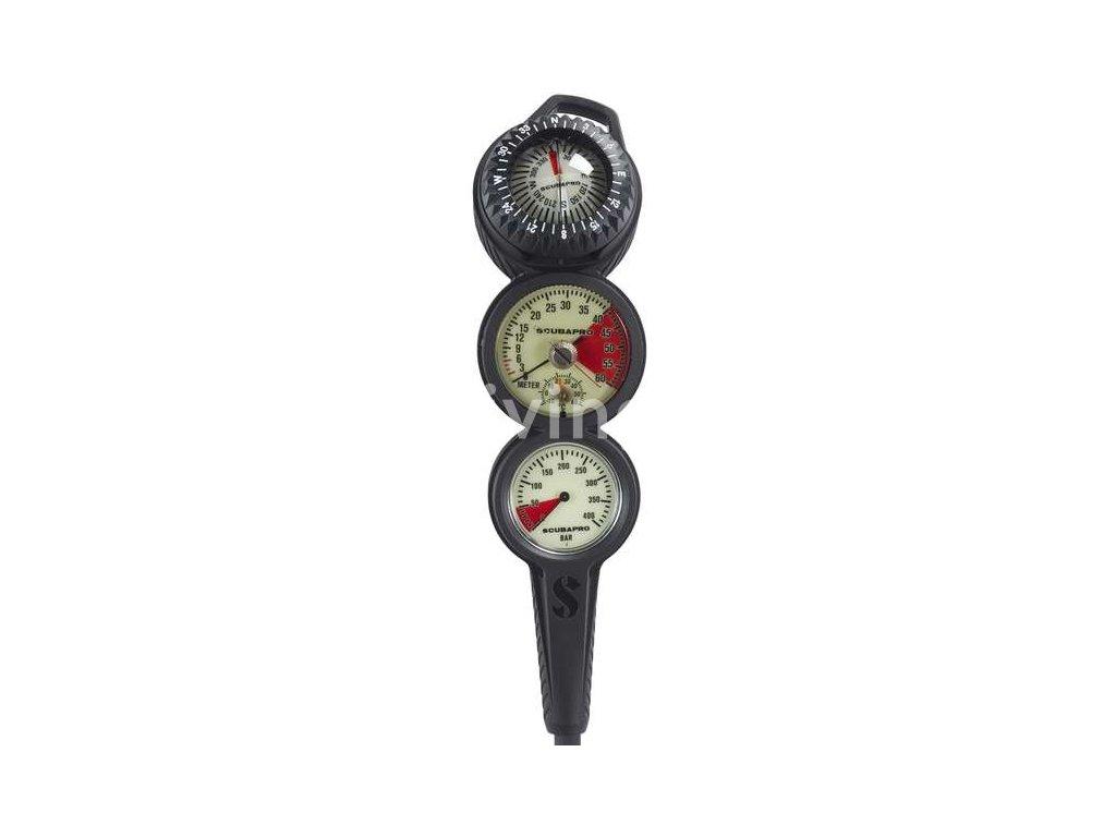 1311 scubapro konzole 3 inline manometr hloubkomer kompas