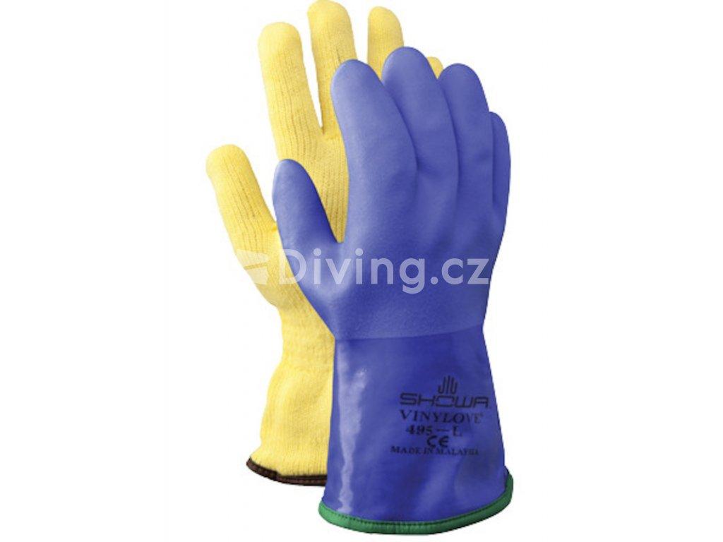 Diving Showa blue glovesthermal gloves 495 2