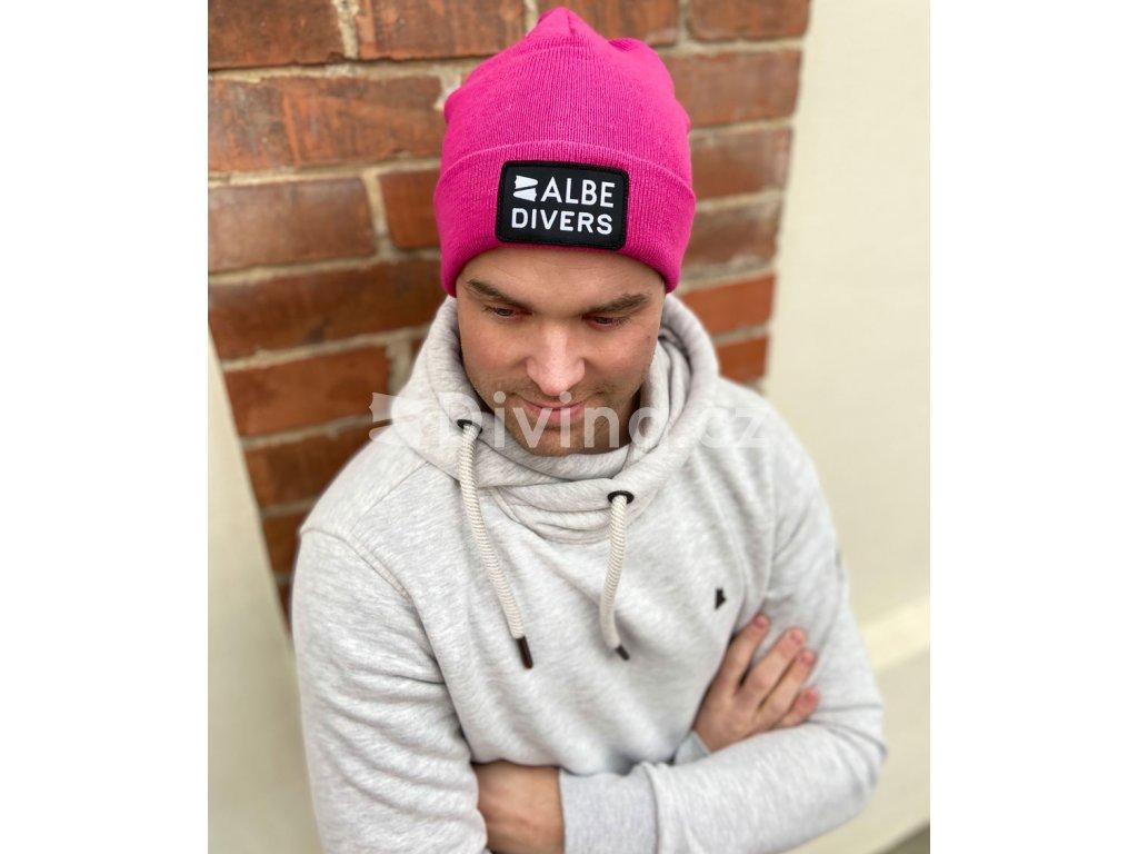 ALBE čepice ružová men