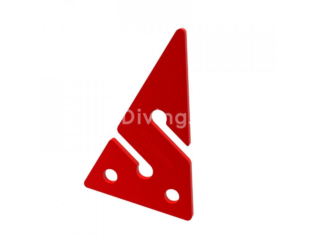 Divesoft Line Arrow - Red