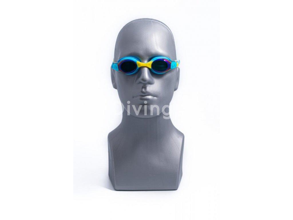 Plavecké brýle BornToSwim® Junior - modré modrá, UNI (Barva Modrá)