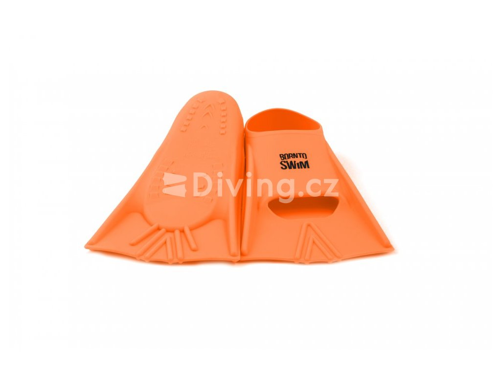 Plavecké silikonové ploutve HAPPY Senior (Barva Oranžová, Velikost 44/46)