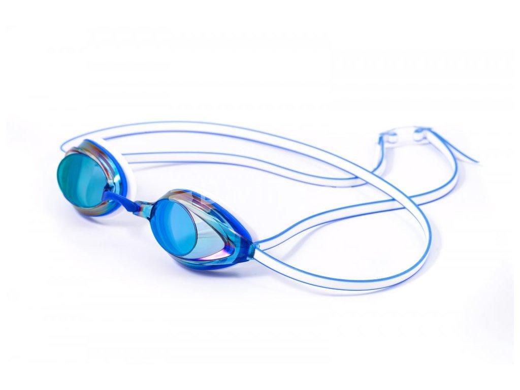 Plavecké brýle BornToSwim® Racer-modré UNI (Barva Modrá)