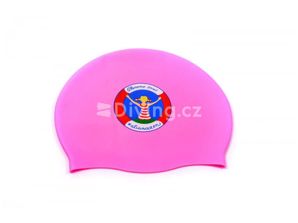 Silikonová čepice PLAVEME PRSA (Barva Růžová)