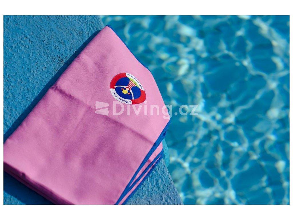Osuška PLAVEME PRSA růžová, 70x140cm (Barva Růžová, Velikost 70x140cm)