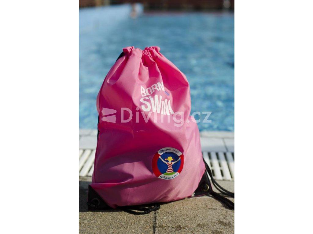 Stahovací vak PLAVEME PRSA růžová, 33x45cm (Barva Růžová, Velikost 33x45cm)