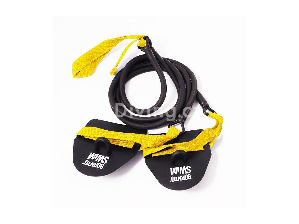 Posilovací gumy BornToSwim® s packami (Barva celá sada, Velikost celá sada)