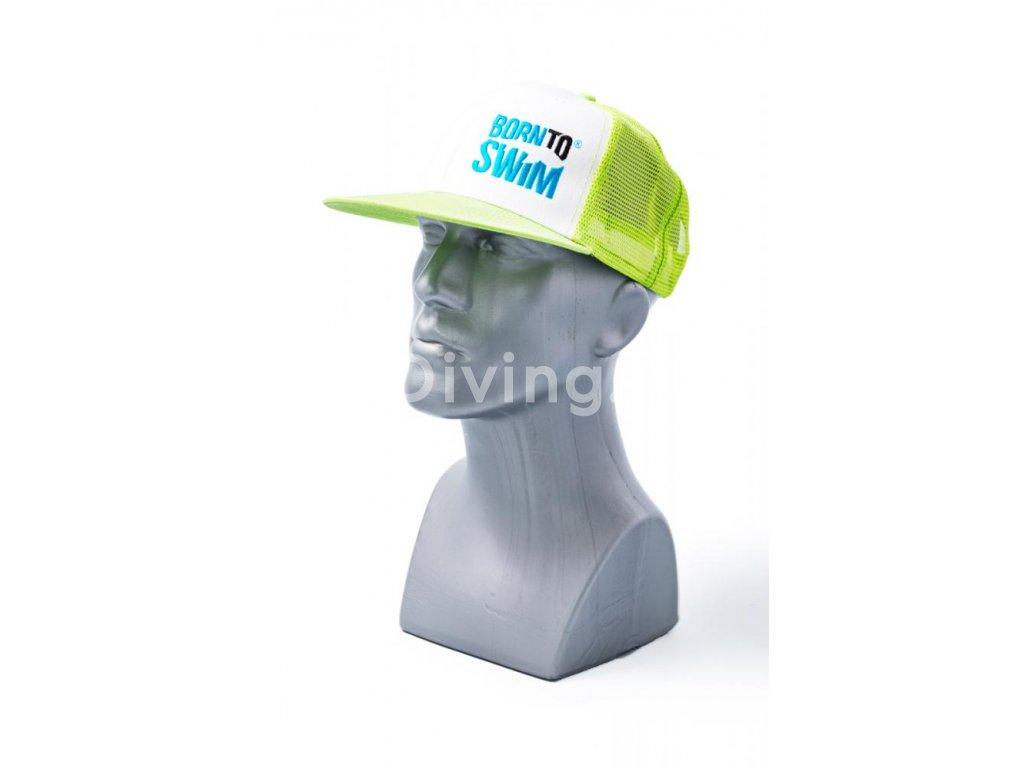 Kšiltovka BornToSwim® Trucker Mesh Cap (Barva růžová/černá)