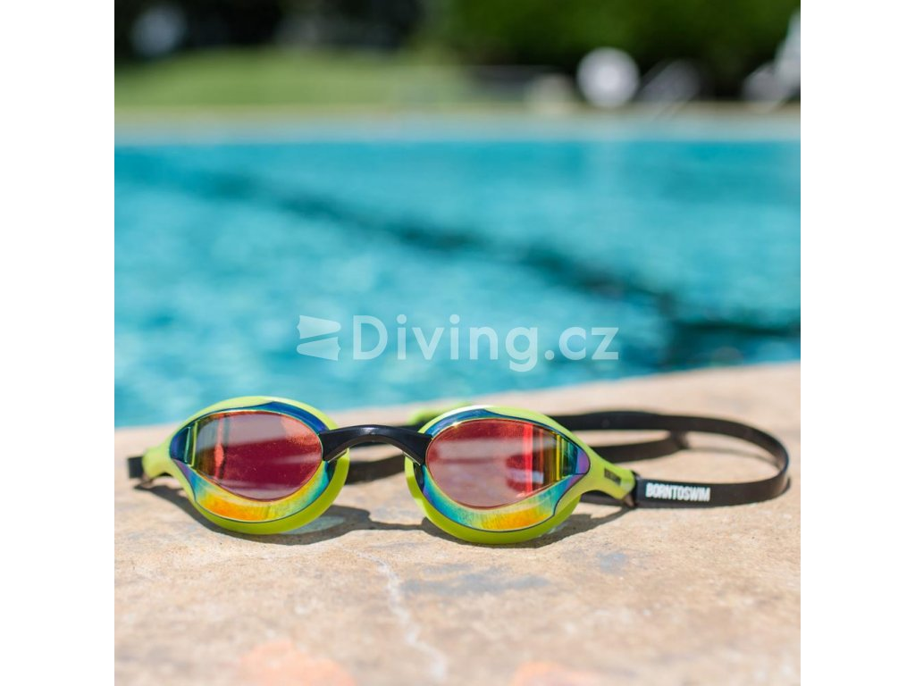 Plavecké brýle BornToSwim® Elite (Barva Bílá)