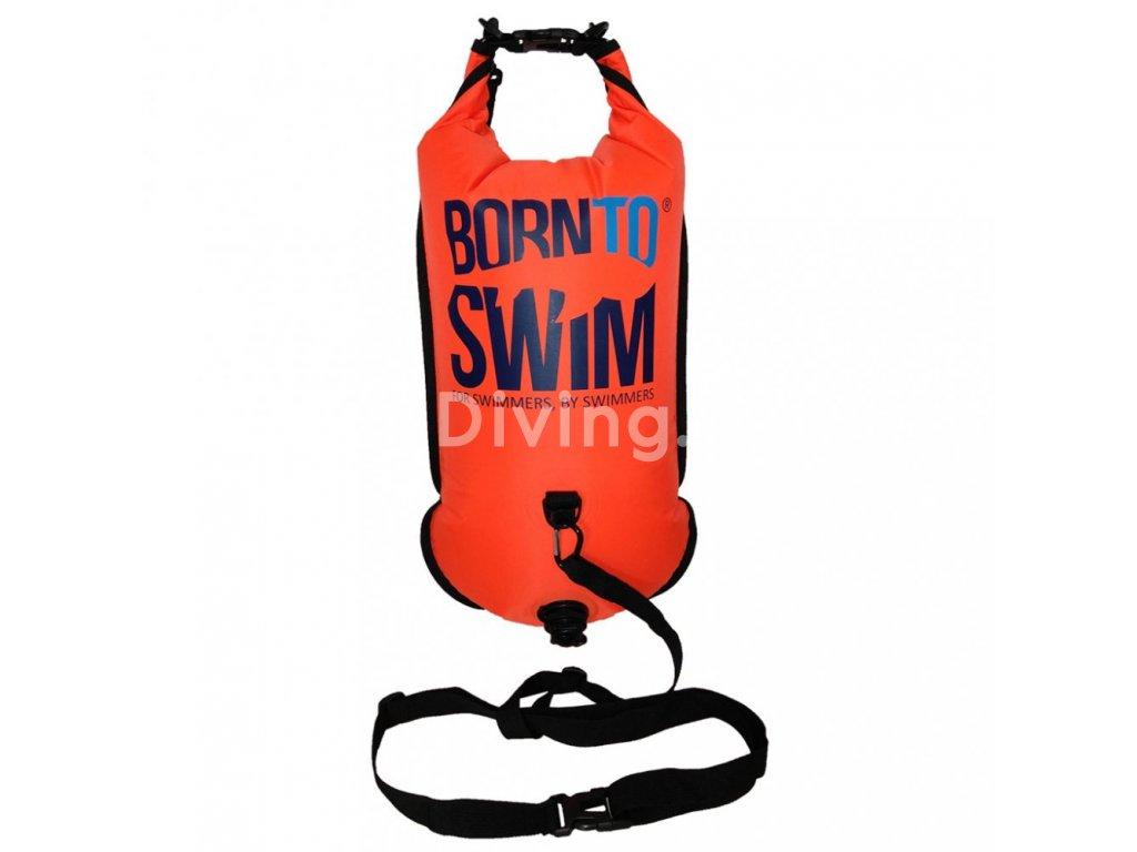 SwimRun batoh a plovák BornToSwim® (Barva Oranžová)