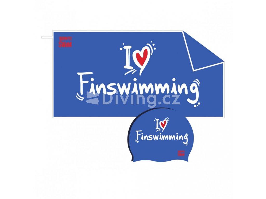 I ❤ Finswimming set BornToSwim® (Barva Růžová)