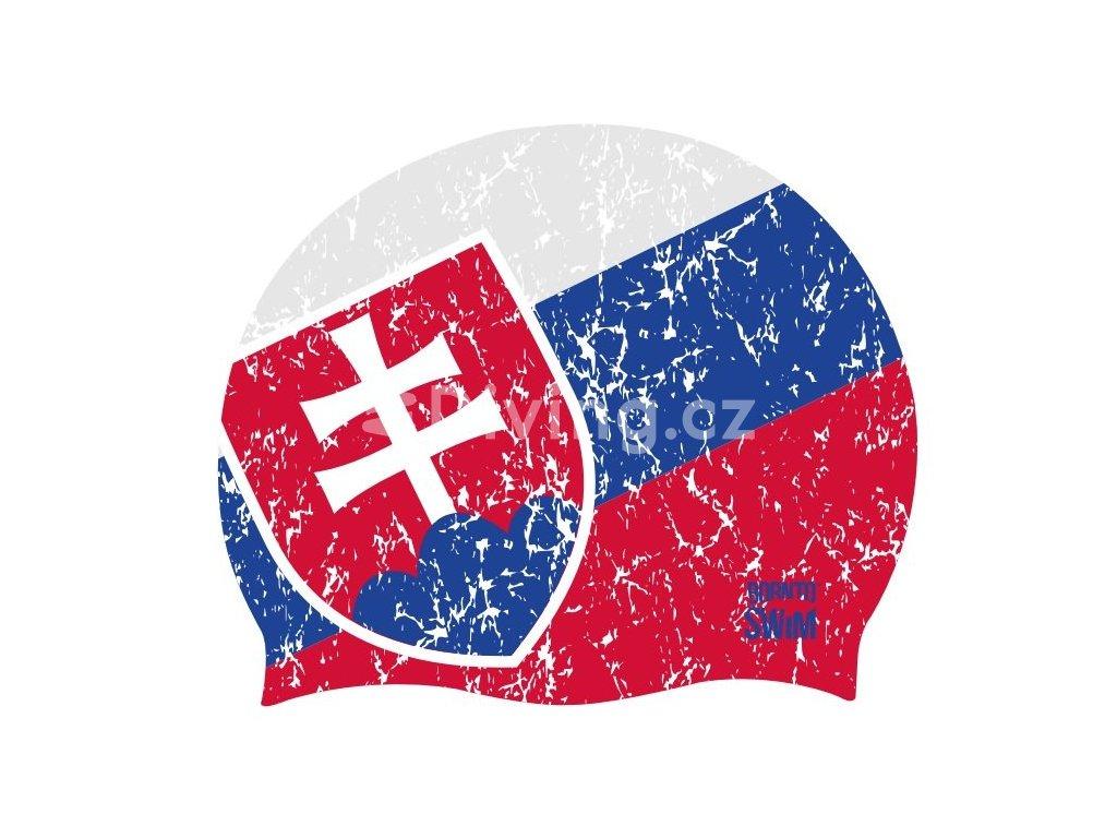 Silikonová čepice Slovensko - SVK UNI, národní barvy (Barva národní barvy)