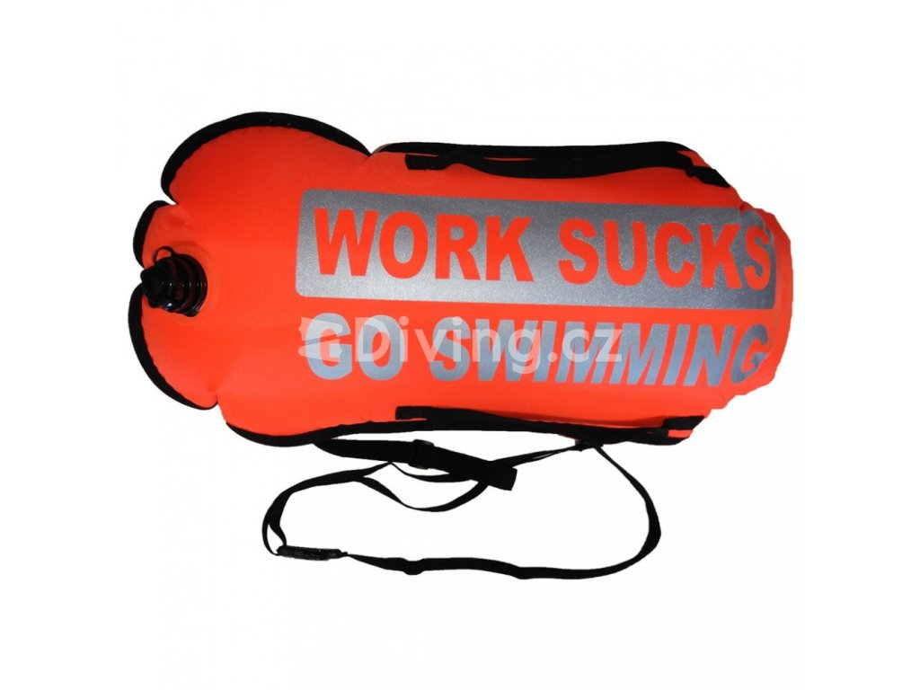 Work Sucks Go Swimming Suchý Vak a Plovák (Barva Oranžová)