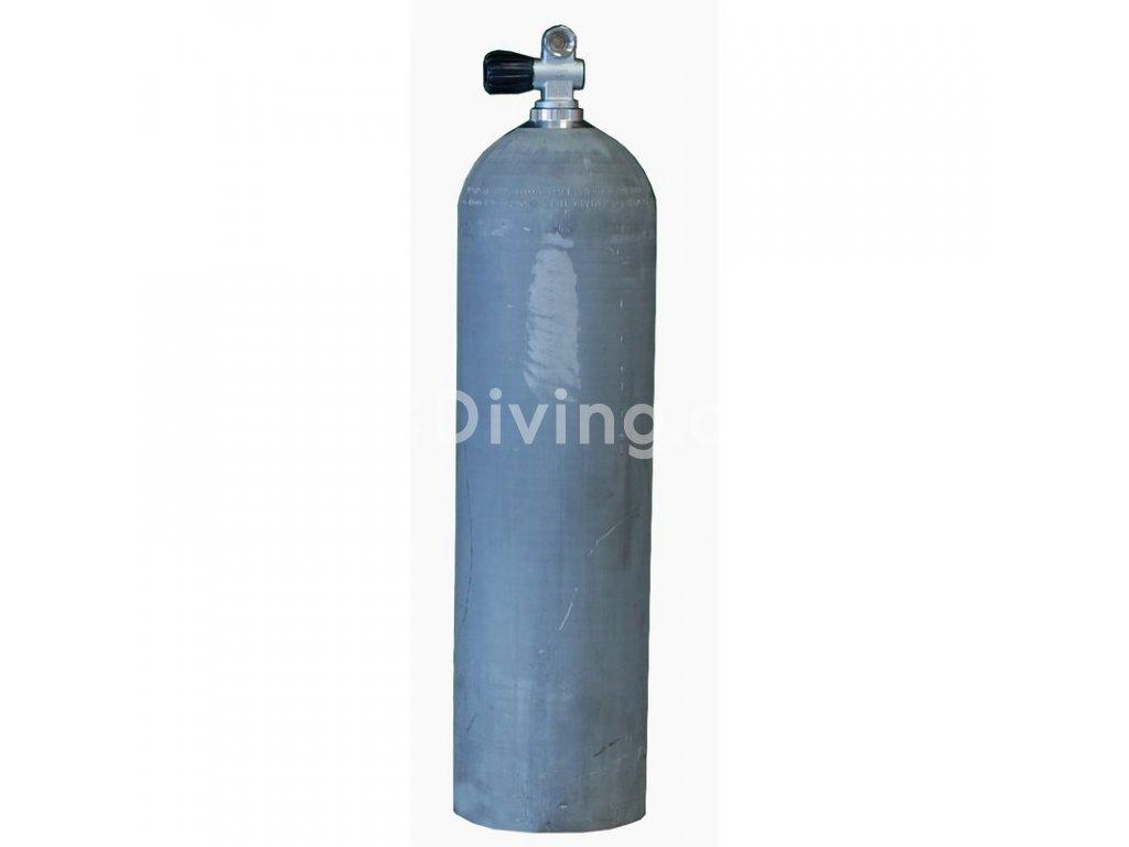 MES 11,1 L hliníková láhev Nature 207 bar s ventilem (Velikost 11,1L)