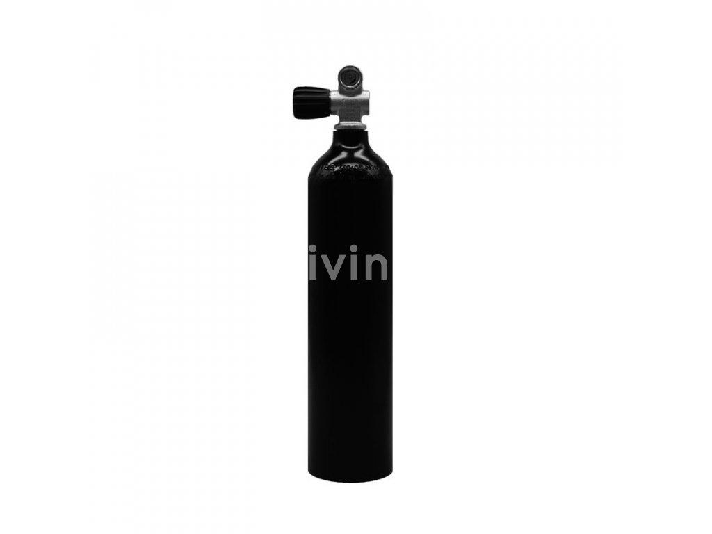 MES 2 l / 200 bar hliníková láhev cerná s ventilem (Velikost 2 L)