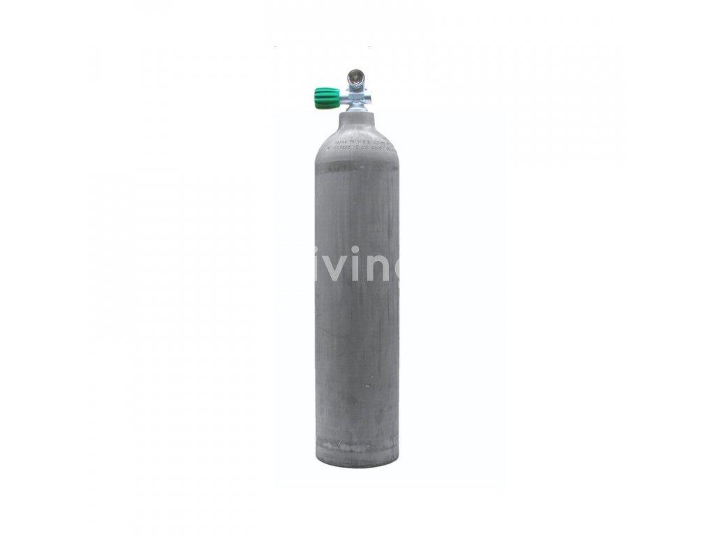 MES 7 L hliníková láhev Nature 200 bar s nitrox ventilem (Velikost 7 L)