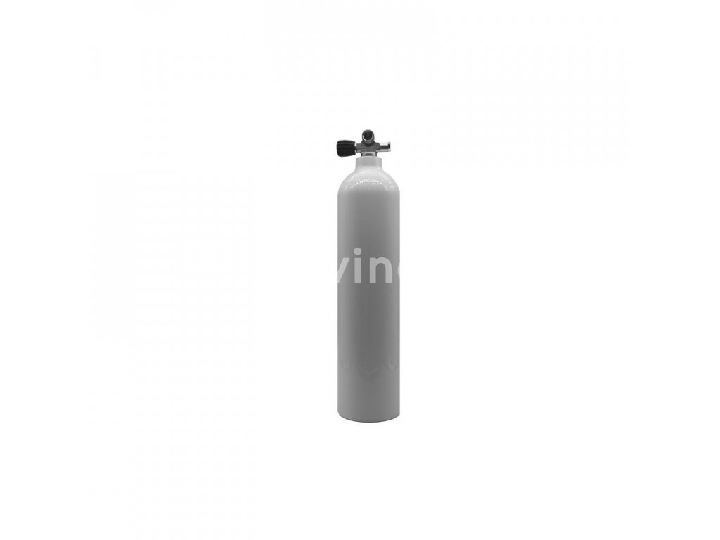 MES 7 l / 200 bar 200 bar bílá hliníková láhev s ventilem  (Velikost 7 L)