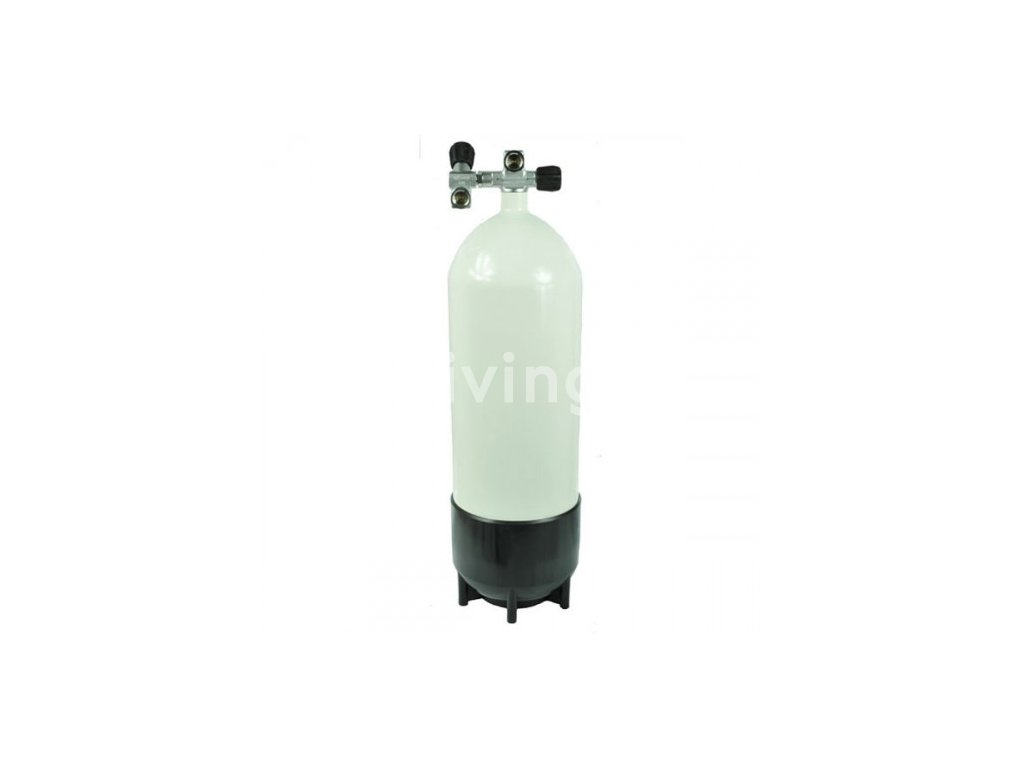 6036 ecs potapecska tlakova lahev 15l 232 bar komplet s twin ventilem