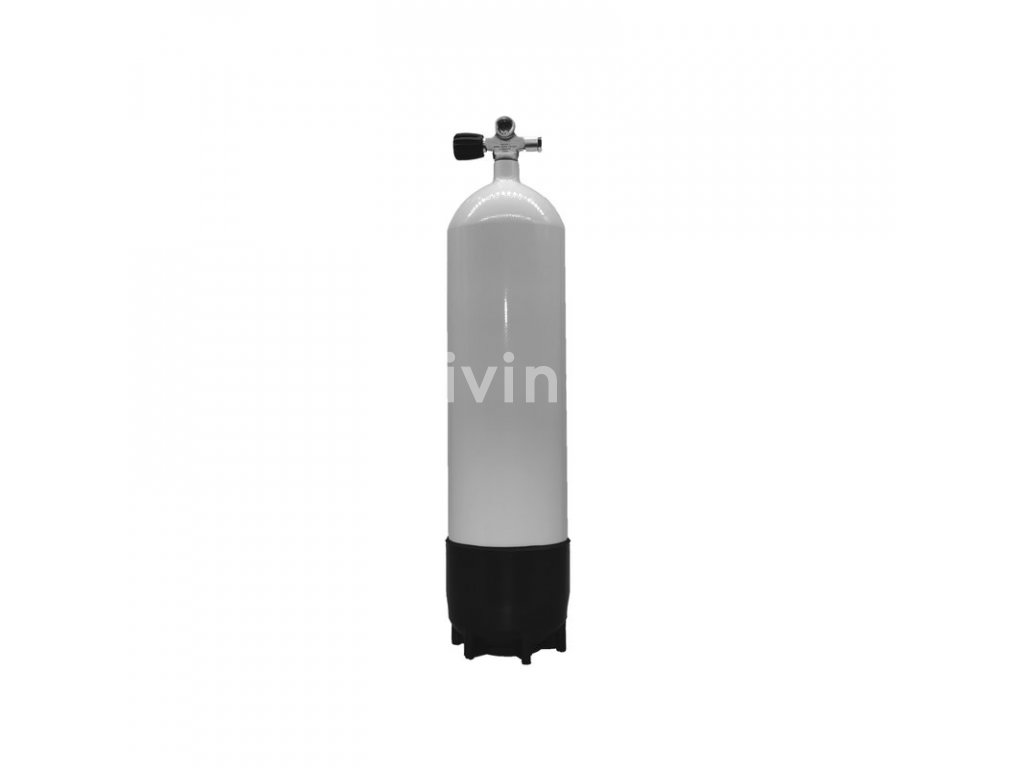 ECS potápěčská tlaková láhev 12L dlouhá / 230 bar s konkávním dnem a ventilem (Velikost 12 L, Ventily Levý)
