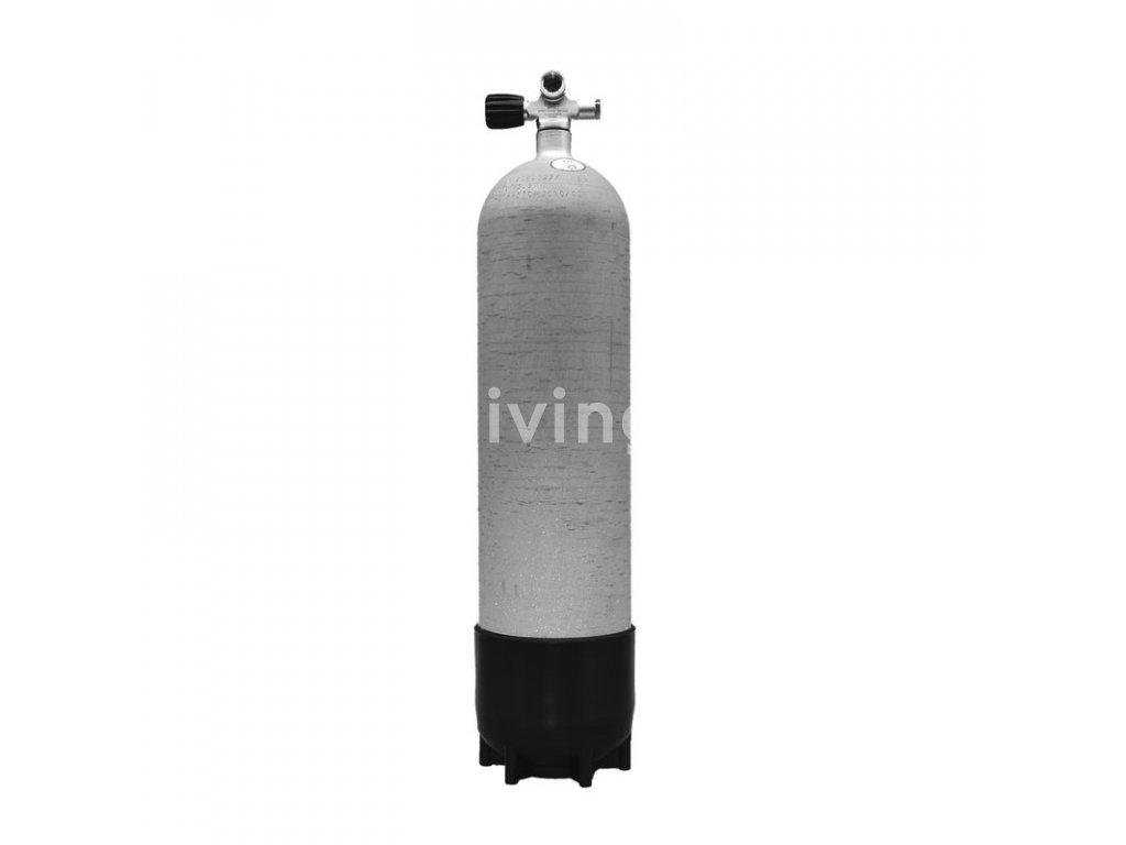 Faber potápěčská tlaková láhev 12L long / 300 bar s botkou a ventilem (Velikost 12 L, Ventily Levý)