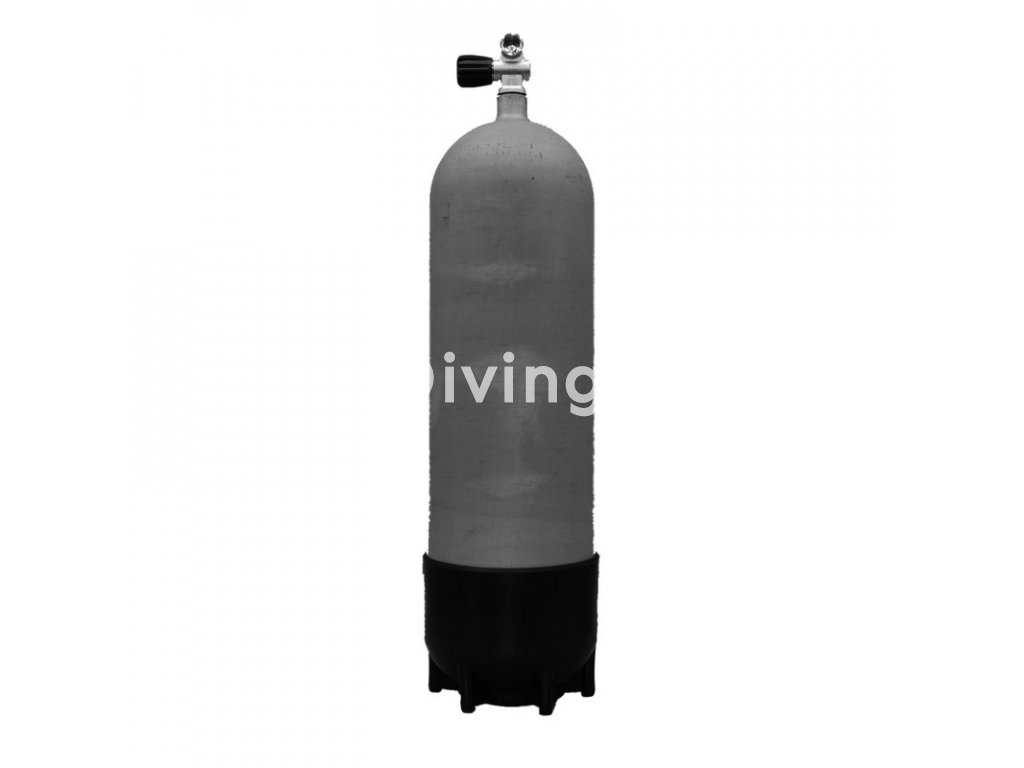 Faber potápěčská tlaková láhev 18 L / 232 bar s ventilem a botkou (Velikost 18 L, Ventily Pravý)