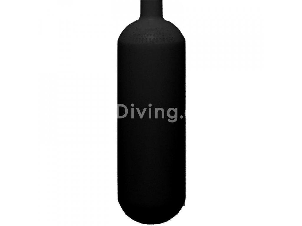 ecs 1 l 200 bar steel cylinder black with valve ventil 12185