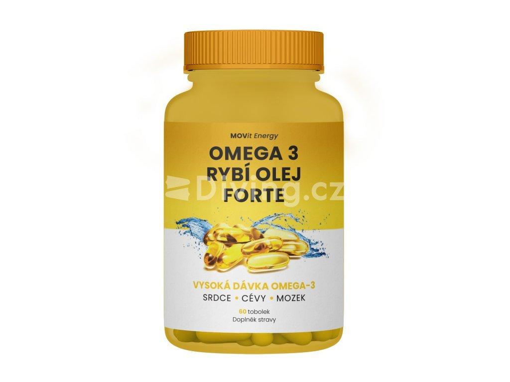 MOVit Omega 3 Rybí Olej FORTE, 315 mg EPA, 245 mg DHA, 60 tob olek