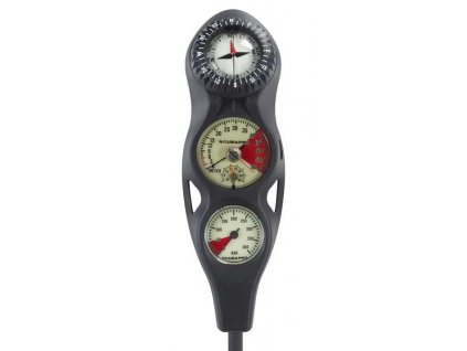 1308 scubapro konzole 3 analog manometr hloubkomer kompas