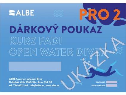 Dárkový poukaz PADI Open Water diver Pro 2