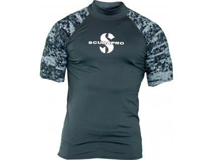 Scubapro Lycrové Tričko Rash Guard Graphite Pánské Krátký Rukáv UPF50