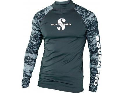 Scubapro Lycrové Tričko Rash Guard Graphite Pánské Dlouhý Rukáv UPF50